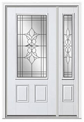beveled glass doors