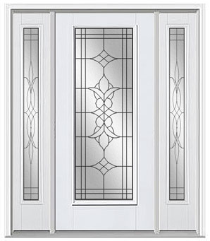 beveled glass entry door